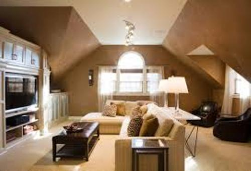 Bedroom with Slanted Walls Pic