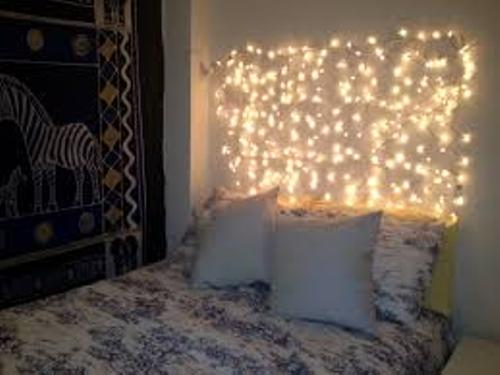 Christmas Lights in Bedroom Design