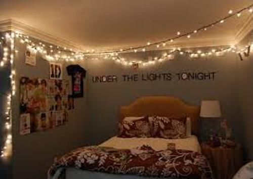 Christmas Lights in Bedroom Pictures