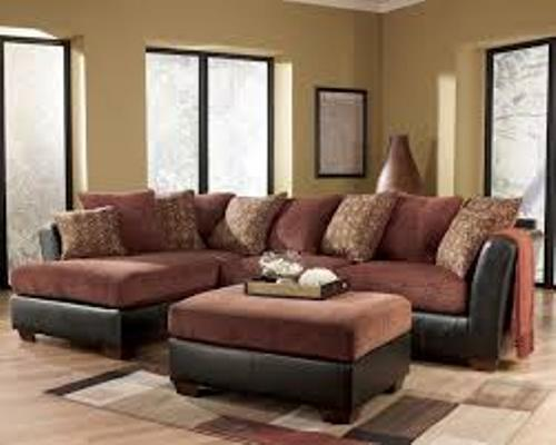 Furniture with a Sectional Sofa Red