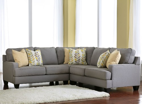 Furniture with a Sectional Sofa in Grey