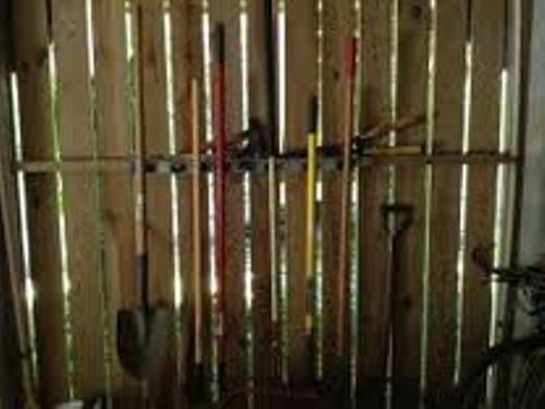 Garden Tools in Garage Image