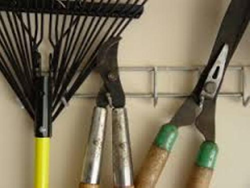 Garden Tools in Garage Organization
