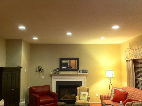 How to Arrange Pot Lights in a Living Room Ideas