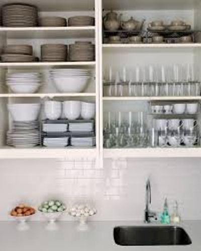 How to Organize a Kitchen Without Pantry Dishes