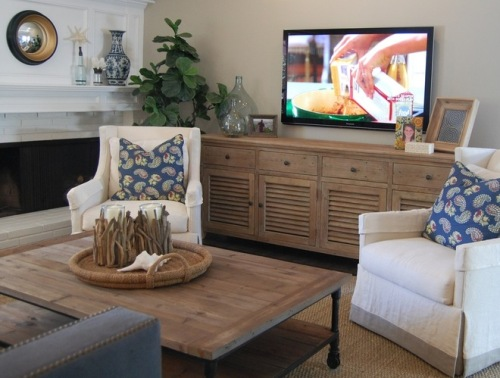 How to arrange living room furniture in an awkward space for Tv room arrangements