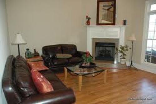 Arrange Living Room with Corner Fireplace