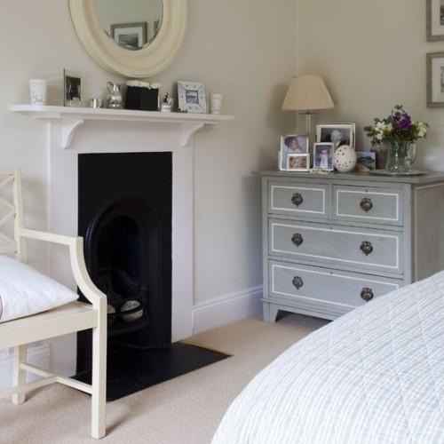 Bedroom Fireplace Mantel Decor