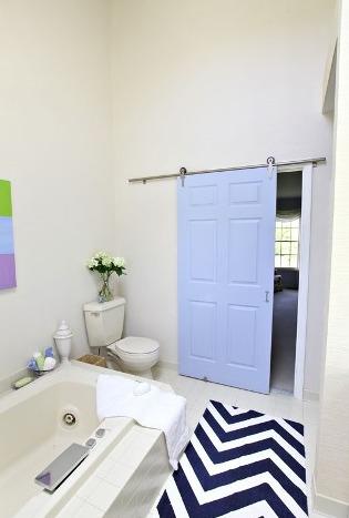 Blue Bathroom Door