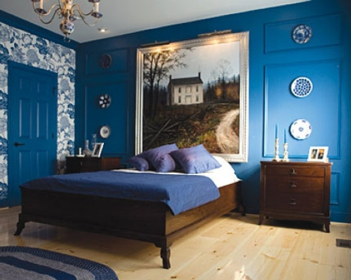 Blue French Country Bedroom