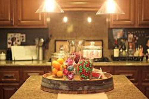 How to decorate your kitchen island for christmas 5 ways for Decorate christmas ideas your home