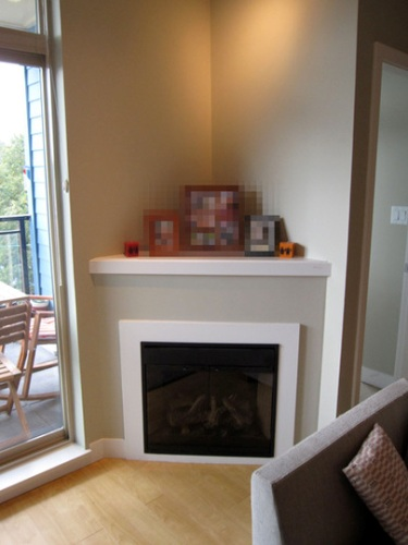 Corner Fireplace Mantel Decor
