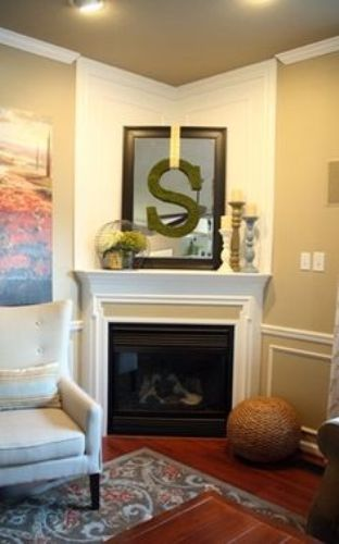 How to decorate a corner fireplace mantel 5 ways for Corner fireplace makeover ideas