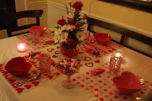 Dinner Table for Valentine's Day