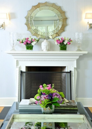 How to decorate a fireplace mantel with a mirror 5 ways for How to design a fireplace mantel