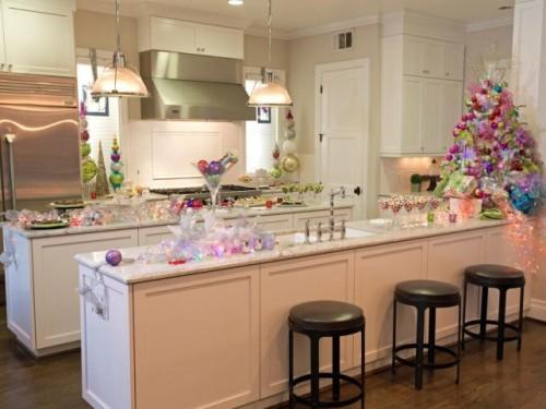 Festive Kitchen Bar for Christmas