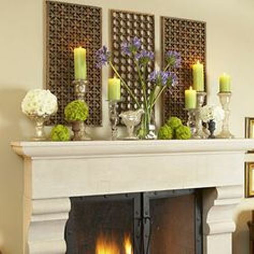 Decorating Ideas > How To Decorate A Fireplace Mantel For Spring 5 Ways  ~ 125534_Fireplace Mantel Decorating Ideas For Spring