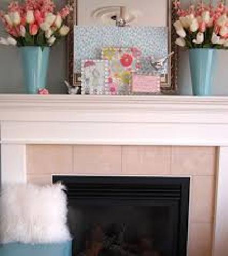 Fireplace Mantel Flowers