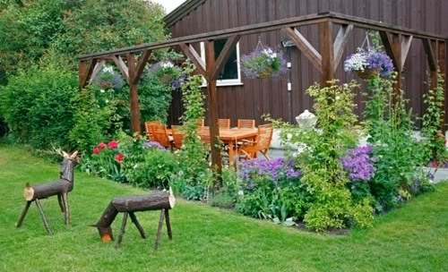 Garden on a Budget with Wooden Furniture