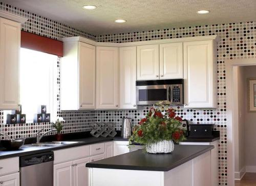 How to Decorate Kitchen Cabinets with Wallpaper