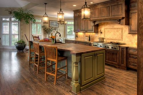 How to Decorate The Back of a Kitchen Island