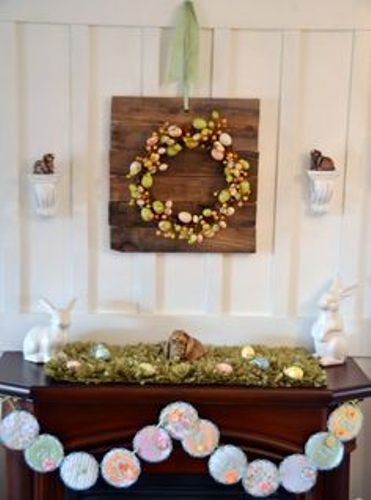 How to Decorate a Fireplace Mantel for Easter