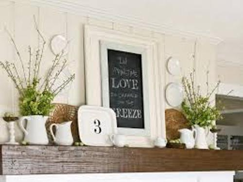 How to Decorate a Fireplace Mantel for Spring