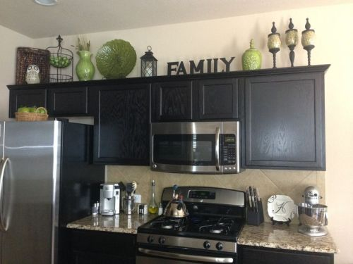 How to Decorate above Cabinets in Kitchen