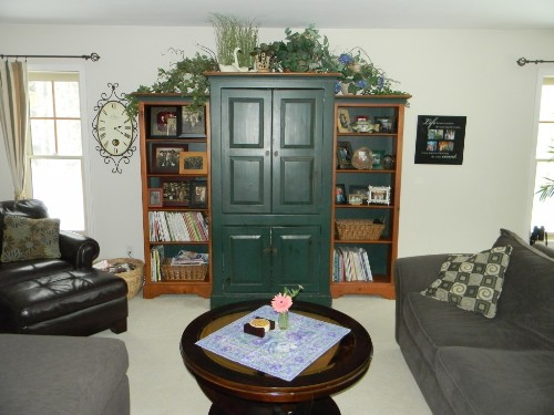 How to Decorate above a TV Armoire