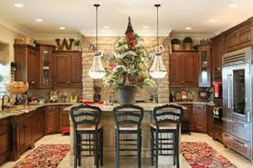 How to Decorate your Kitchen Island for Christmas
