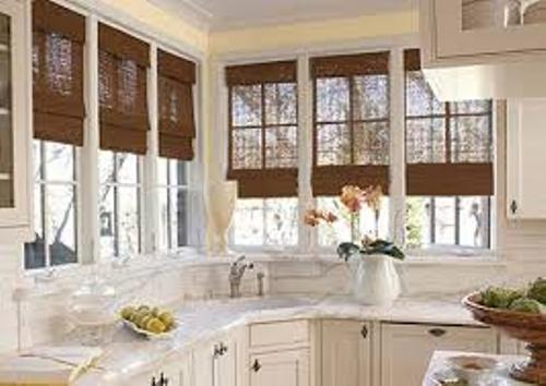 Kitchen Bay Window with Granite Countertop