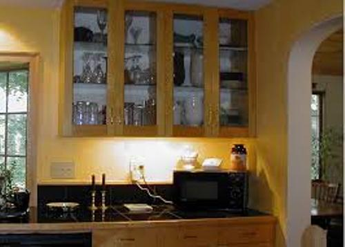 Kitchen Cabinets with Glass Door Style