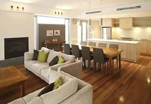 Living Room and Dining Room Combined Design