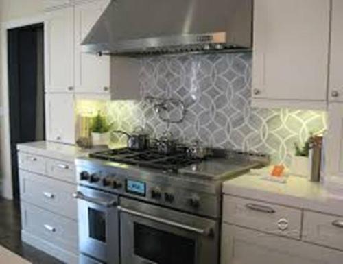 Silver Kitchen Backsplash