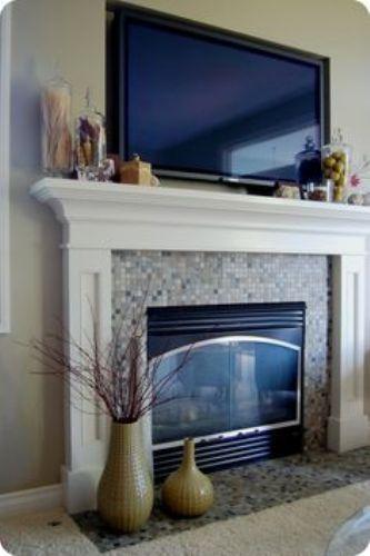 Stylish Fireplace Mantel with a TV