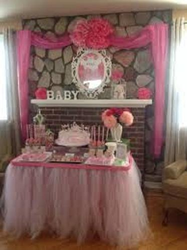 Unique Fireplace Mantel for a Baby Shower