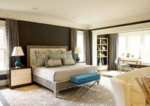 Bedroom with Beige Wall
