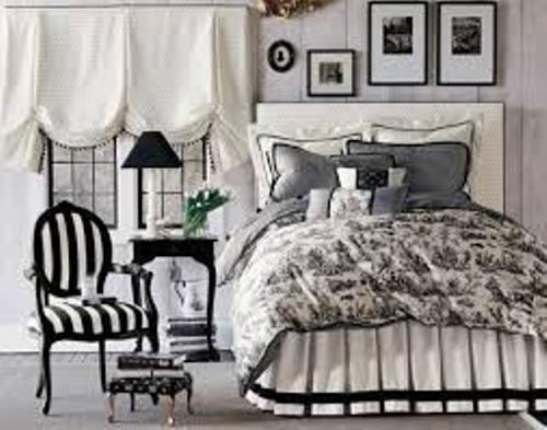 Black and White Bedding Design