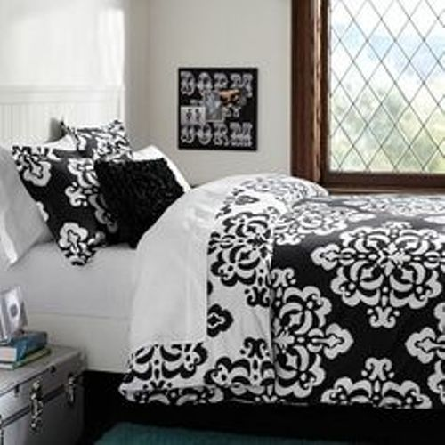 Black and White Bedding Pattern