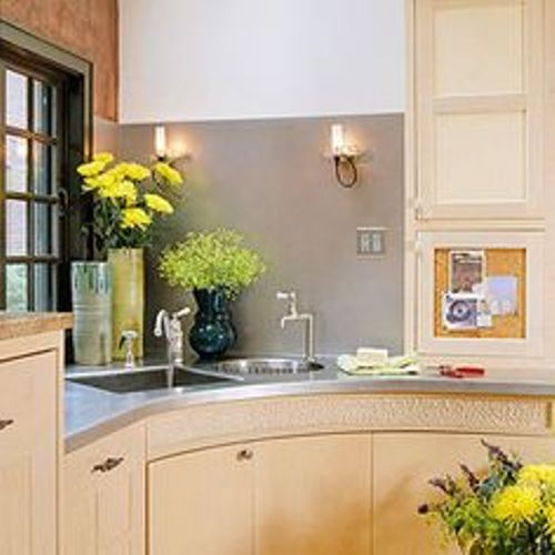 How to decorate a corner kitchen sink 5 ideas for amazing for Corner sink kitchen design ideas