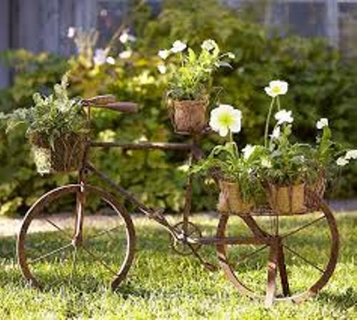 Decorative Garden with Recycled Materials