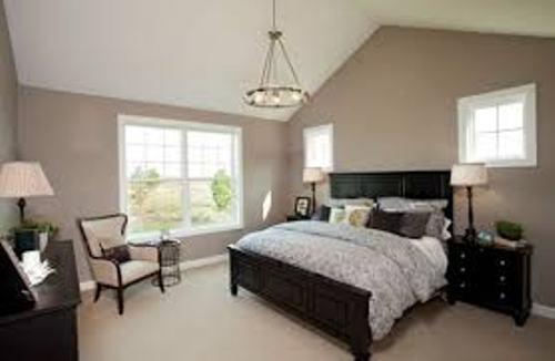 Elegant Bedroom with Beige Walls
