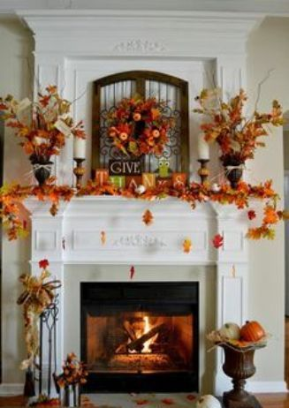 Fireplace Mantel for Thanksgiving Day