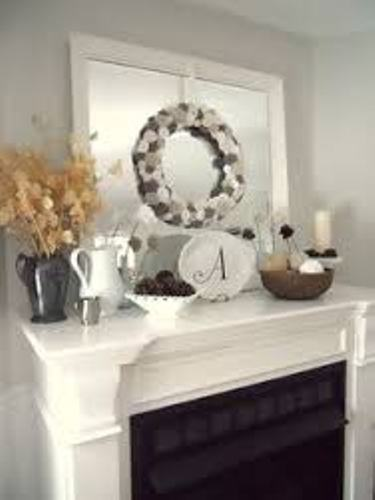Fireplace Mantel for Winter in White