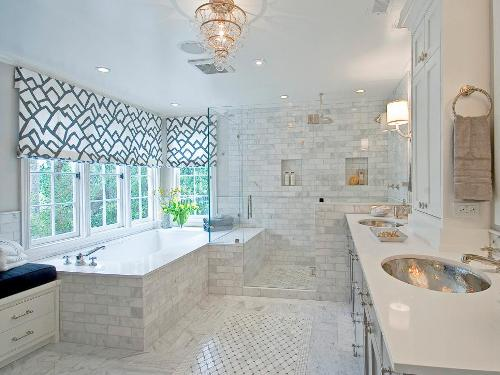 How to Decorate a Large Bathroom Window