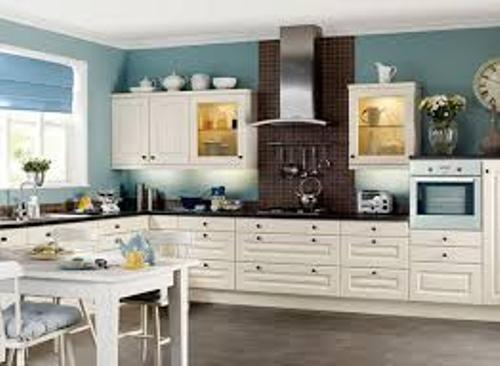 Kitchen Accessories with Blue Wall
