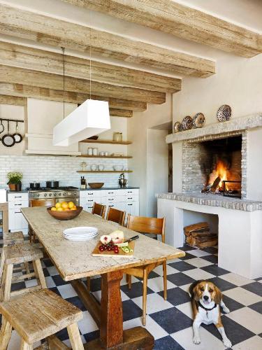 Kitchen Fireplace Mantel Ideas
