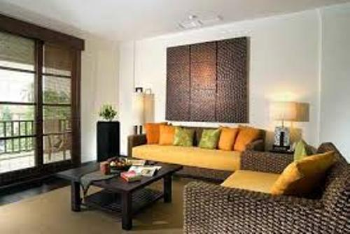 Living Room Apartment and Wicker Furniture
