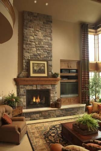 Living Room Around Fireplace