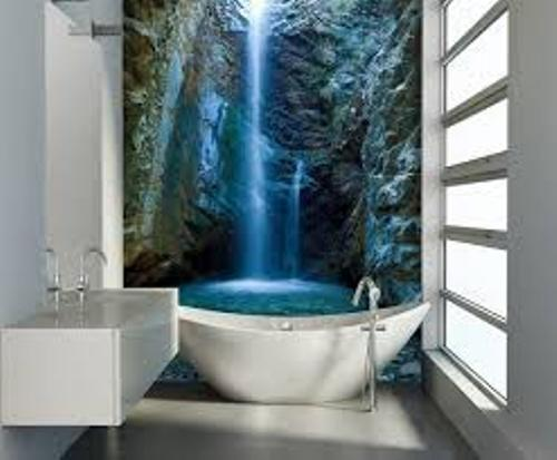 Long Wall in Modern Bathroom